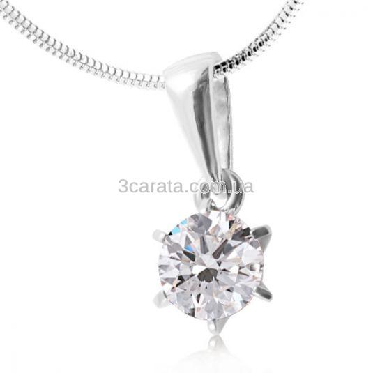 Женский кулон с бриллиантом 0.9 карат «Век любви бесконечен»
