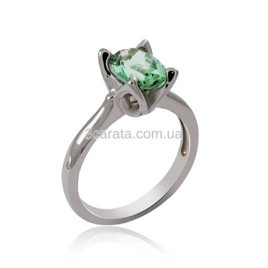 Золотое кольцо с зеленым турмалином «Zoya»