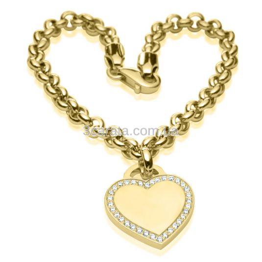 Женский браслет с подвеской сердечком «Любимая»