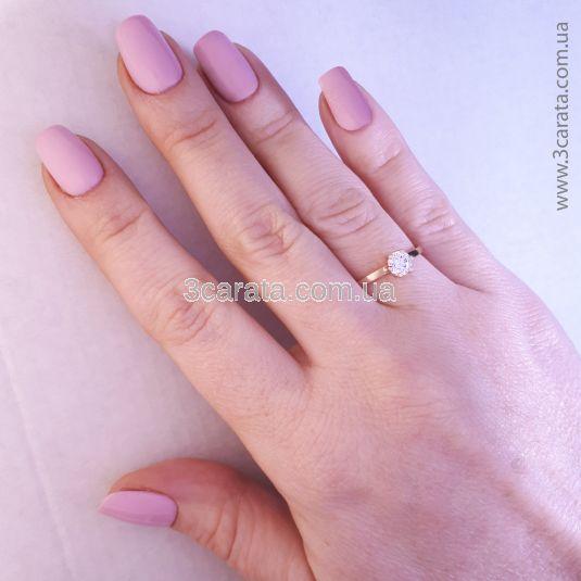 Золотое кольцо с кристаллом Сваровски «Мальди»