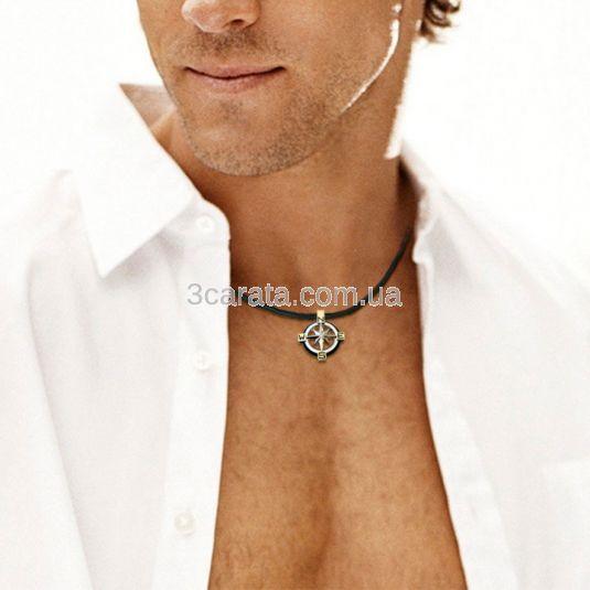 Кулон мужской с бриллиантами «Роза ветров»