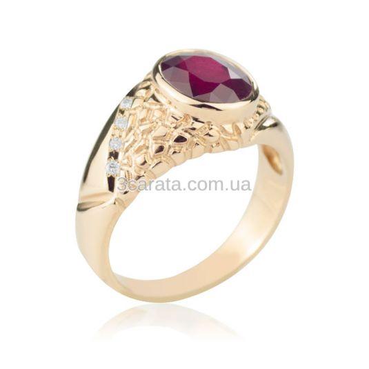 Мужское кольцо с крупным рубином «Персидский Шахиншах»
