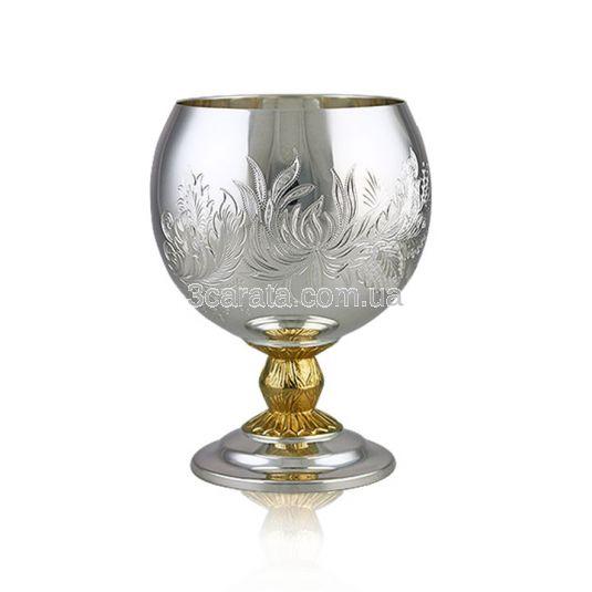 Набор серебряных бокалов под коньяк «Hennes»
