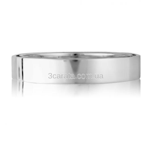 Обручальное двойное кольцо без камней «Shining»