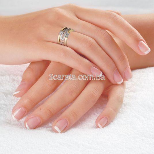 Эксклюзивное женское обручальное кольцо с бриллиантами «Gia»