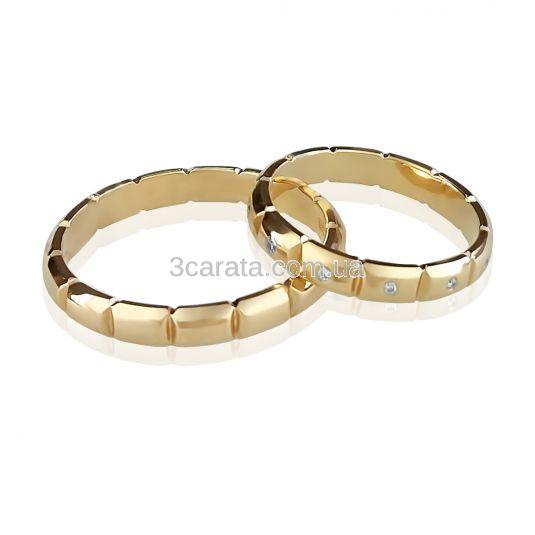 Золотое обручальное кольцо «Feeling»