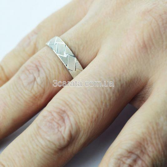 Обручальное кольцо с 3-D гравировкой «Plexus»