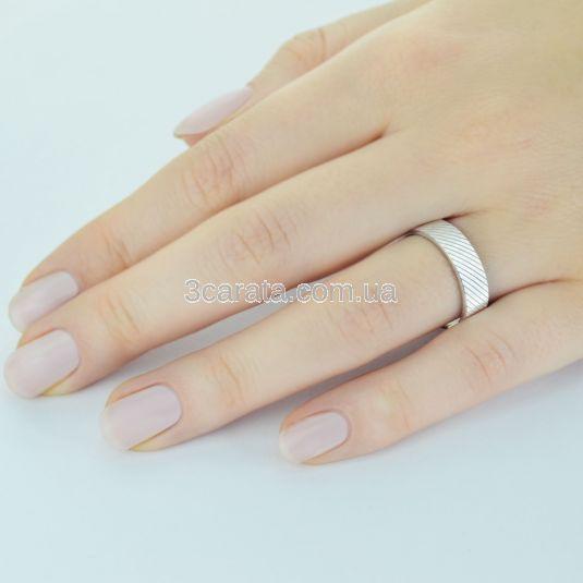 Обручальное кольцо с 3-D гравировкой «Lines of fate»
