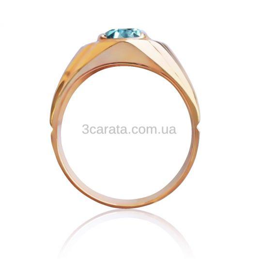 Перстень мужской с круглым топазом «Интеллектуал»