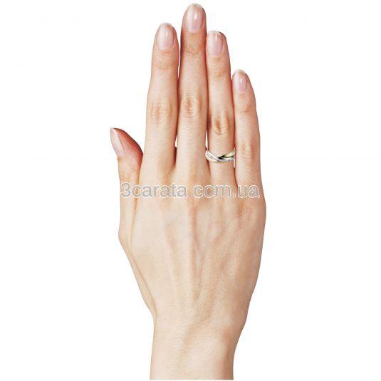 Золотое обручальное кольцо «Тринити II»