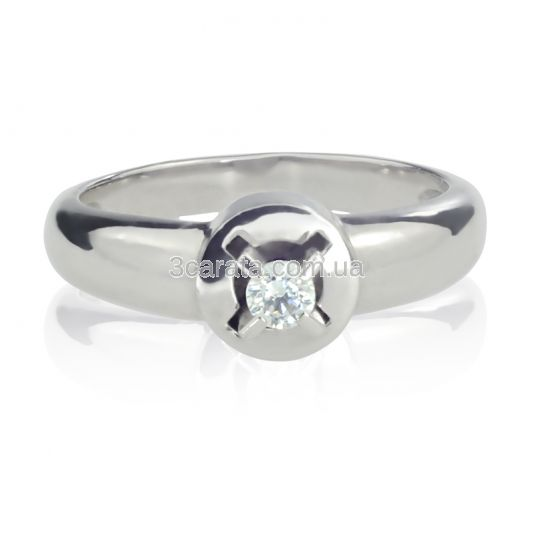 Кольцо помолвочное из золота с бриллиантом «Storks»