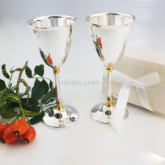 Набор серебряных рюмок «Петровские» - 2 шт