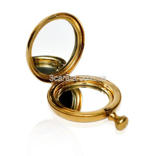 Компактное серебряное зеркало «Цветок»