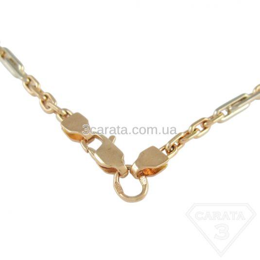 Золотая цепь «Якорь двухцветный»