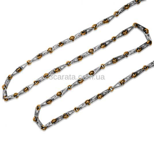 Золотая цепь фантазийного плетения «Рокко-барокко»