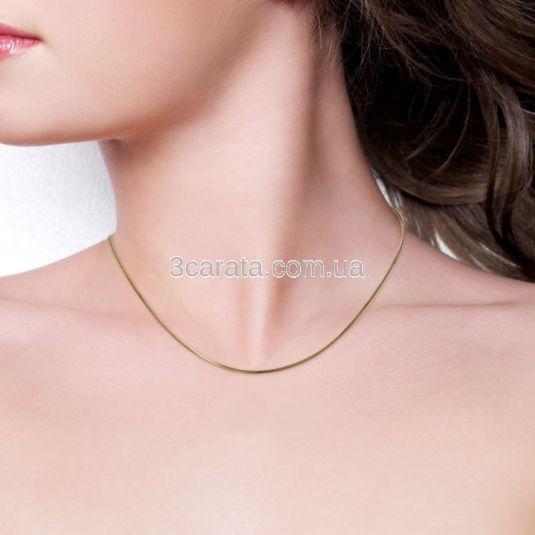 Золотая цепь женская плоский снейк «Змейка»