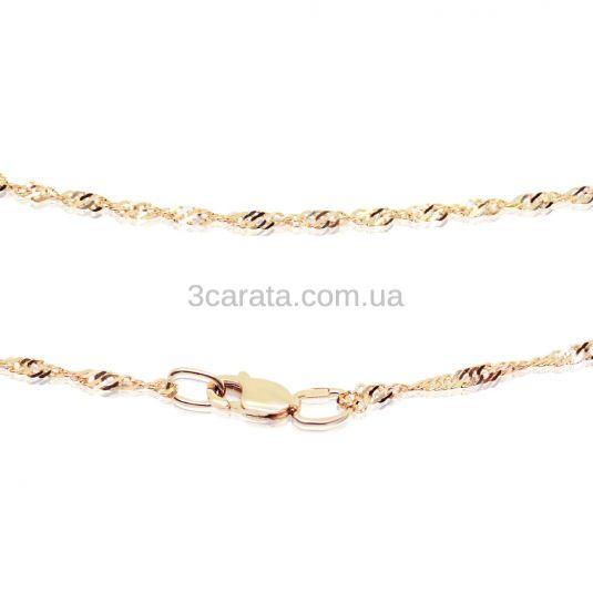 Золотая цепочка с алмазной гранью «Сингапур»