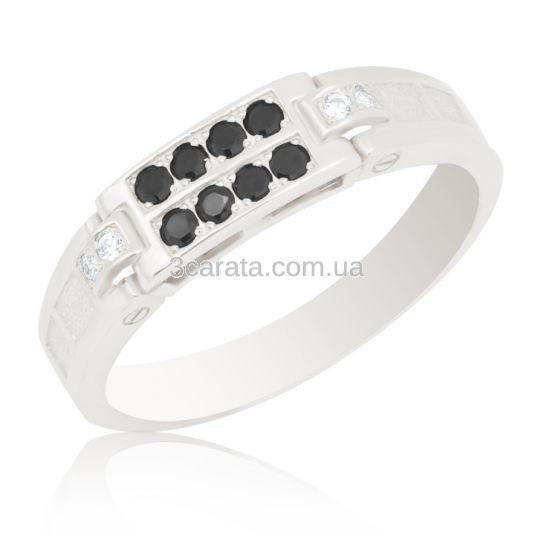 Перстень с черными бриллиантами купить
