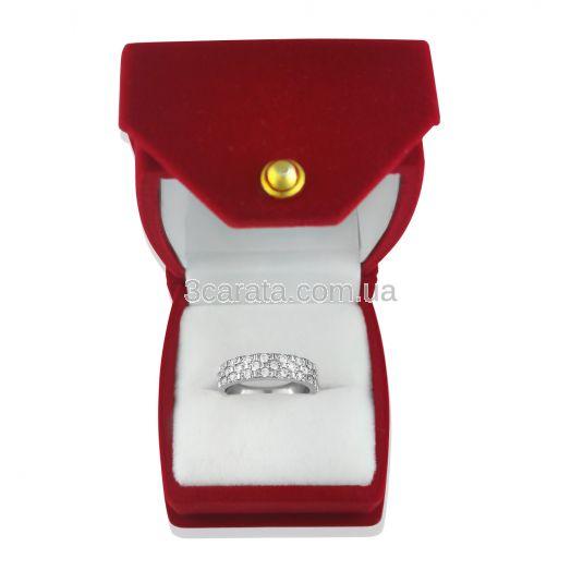 Золотое кольцо с россыпью бриллиантов «Shine»