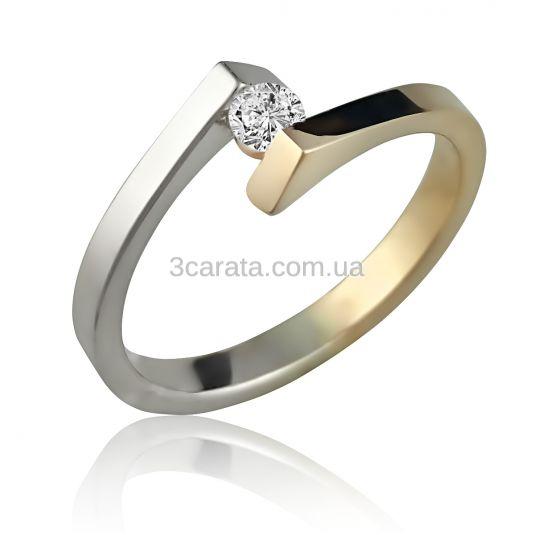 Золотое кольцо для помолвки с бриллиантом 0,10 карат «Аннет» b80067850fb