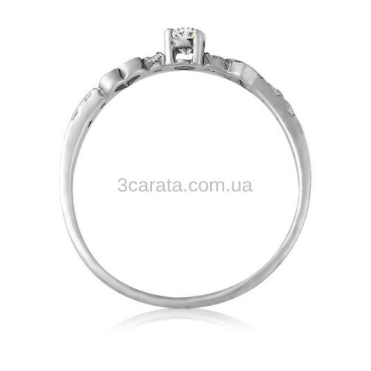 Недорогое кольцо с золотым сердечком и Сваровски «Верность»