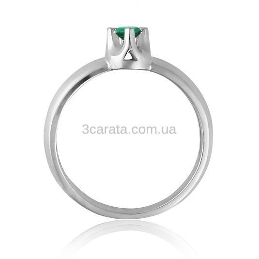 Золотое кольцо для помолвки c изумрудом 0.06 Ct «Софи»