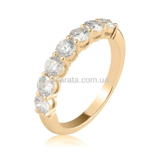 Кольцо с дорожкой крупных бриллиантов «Like a million»