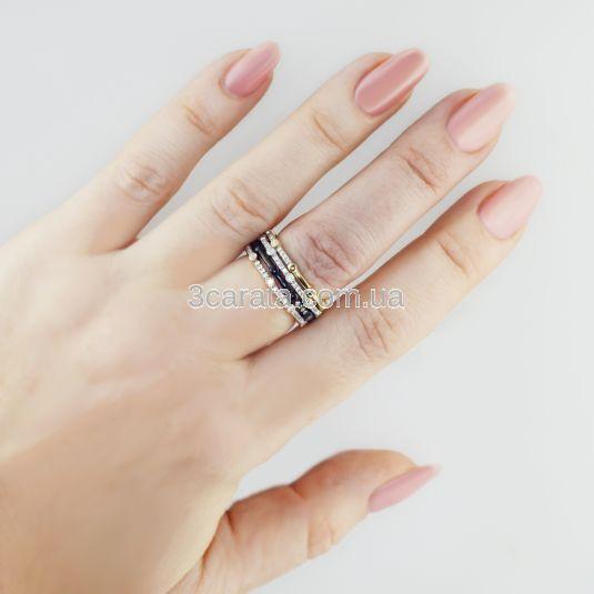 Золотое кольцо из четырех цветов золота «Quatre»