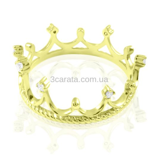 Кольцо-корона с цирконием «Queen of my heart»
