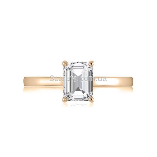 Помолвочное кольцо с прямоугольным фианитом «Especial»