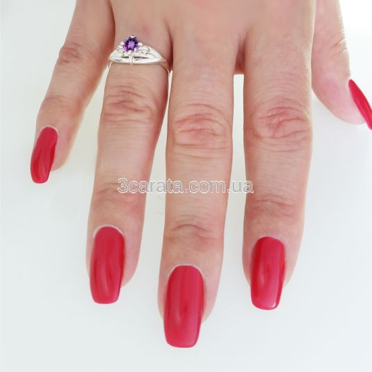 Женское кольцо с фиолетовым аметистом «Эдит»