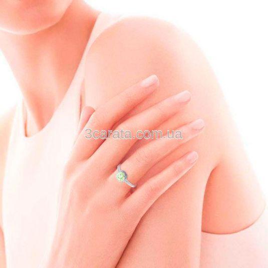 Золотое кольцо с большим бериллом «Алеся»