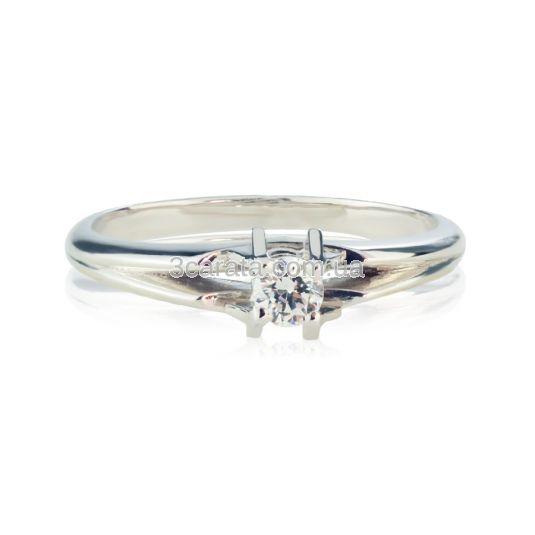 Кольцо золотое для предложения с бриллиантом «Aloha»