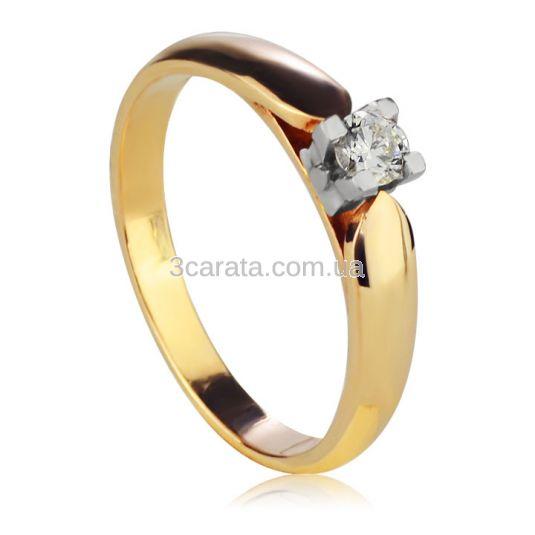 Золотое кольцо с цирконием «Королевна»
