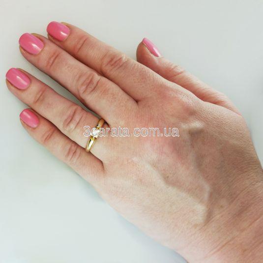 Золотое кольцо с бриллиантом 0.11 сt  «Alonsa»