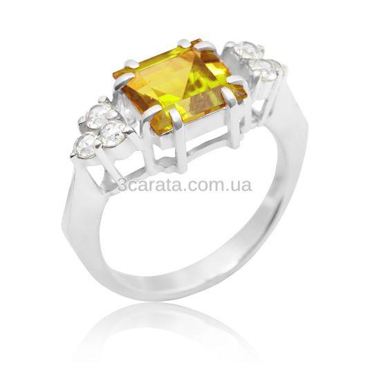 Золотое кольцо с цитрином «Дороги любви»