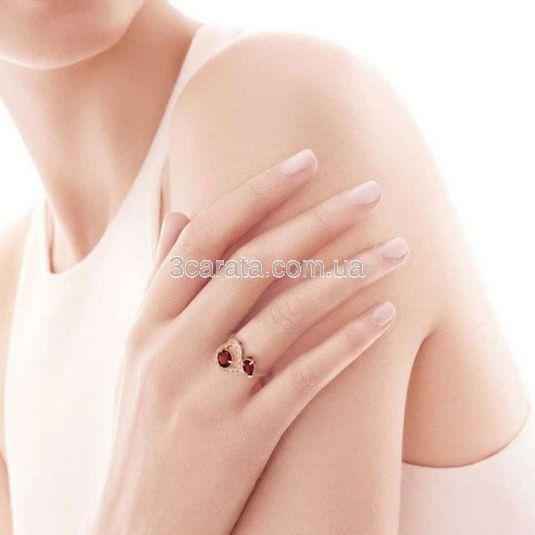Золотое кольцо с гранатами «Любовь Кармен»