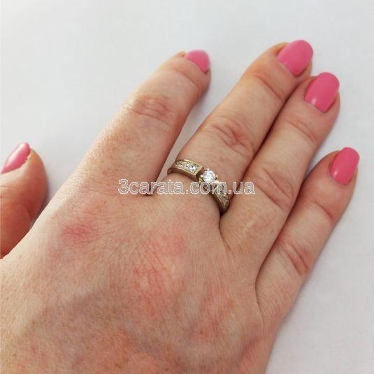 Кольцо на помолвку с кристаллами сваровски «Lovesong»