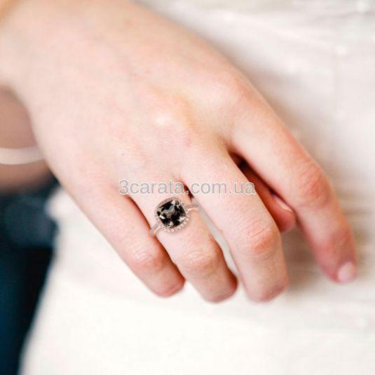 Золотое кольцо с крупным раухтопазом «Исабель»