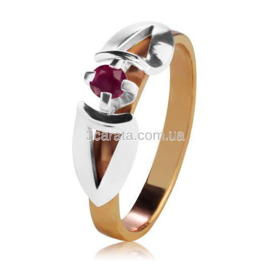 Кольцо золотое для предложения с рубином «Деа»