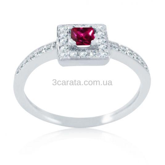 Золотое кольцо с рубином и бриллиантами «Pret-a-porte II»