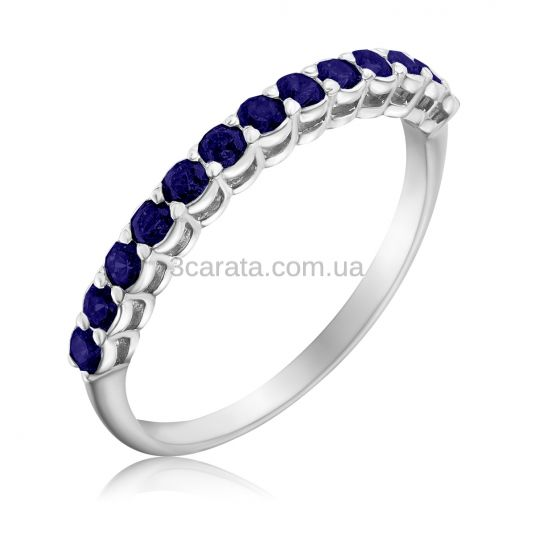 Золотое кольцо дорожка c сапфирами «Beautify»