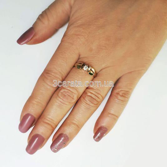 Кольцо золотое для предложения с бриллиантом «Деа»