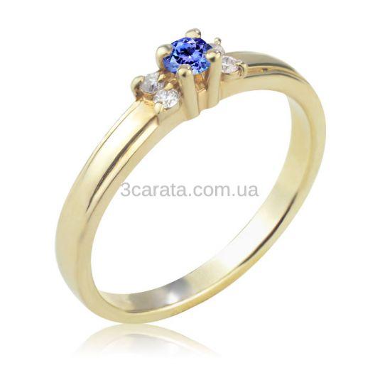 Женское кольцо с танзанитом и бриллиантами «La Tendresse»