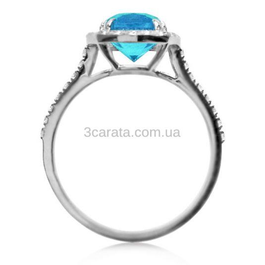 Золотое эксклюзивное кольцо с топазом «Аделаида»