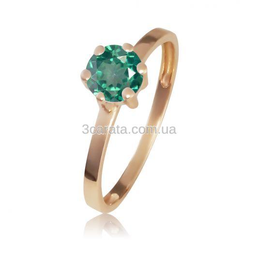 Золотое кольцо с зеленым топазом «Мальди»