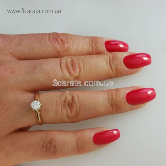 Помолвочное кольцо с большим камнем Сваровски «Andromeda»