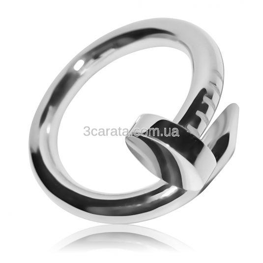 Золотое кольцо согнутый гвоздь «От Картье»