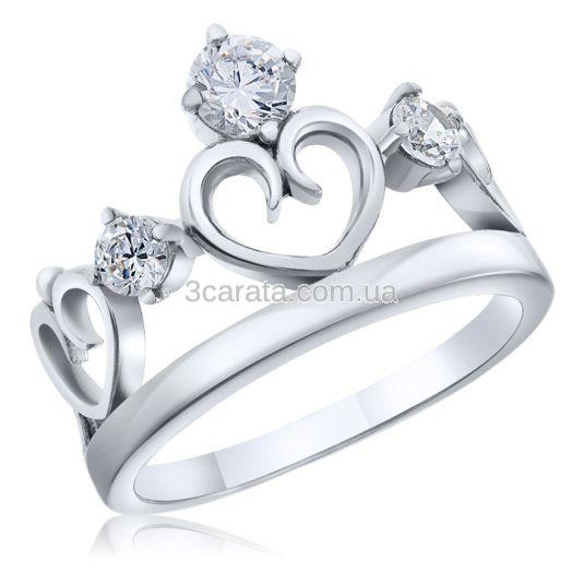 Кольцо в форме короны с сердцем «Royal Heart»