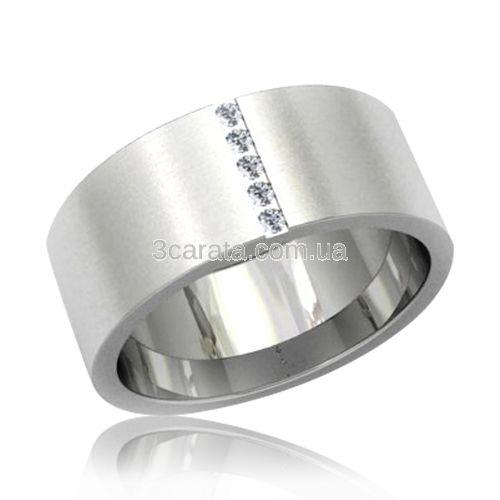 10d6f853e7b4 Широкое обручальное кольцо американка с бриллиантами «Крепкая любовь - I»